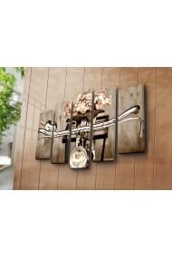 Set 5 tablouri din panza Bonanza ASR-242BNZ4278 Multicolor