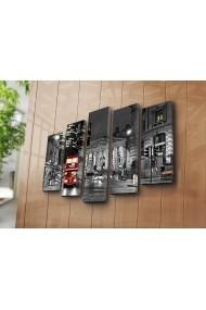 Set 5 tablouri din panza Bonanza ASR-242BNZ4208 Multicolor