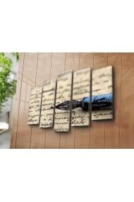 Set 5 tablouri din panza Bonanza ASR-242BNZ4280 Multicolor