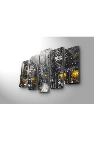 Set 5 tablouri din panza Bonanza ASR-242BNZ4290 Multicolor