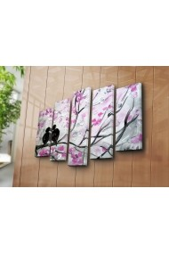 Set 5 tablouri din panza Bonanza ASR-242BNZ4291 Multicolor
