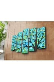 Set 5 tablouri din panza Bonanza ASR-242BNZ4292 Multicolor