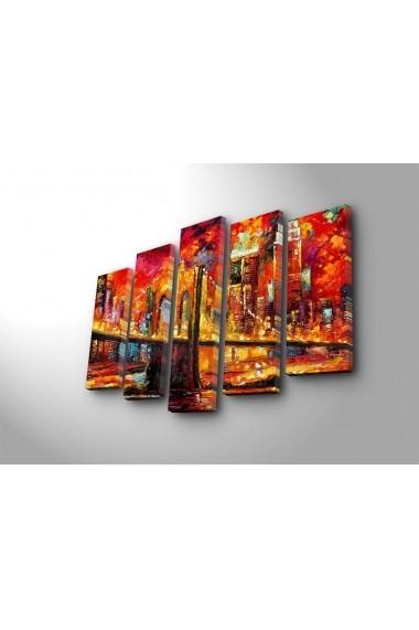 Set 5 tablouri din panza Bonanza ASR-242BNZ4293 Multicolor