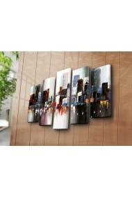 Set 5 tablouri din panza Bonanza ASR-242BNZ4295 Multicolor
