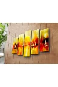 Set 5 tablouri din panza Bonanza ASR-242BNZ4297 Multicolor