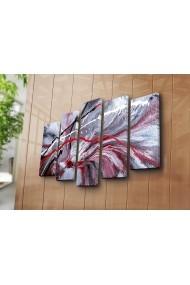 Set 5 tablouri din panza Bonanza ASR-242BNZ4298 Multicolor