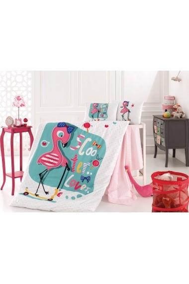 Set lenjerie de pat pentru copii Nazenin Home 164NZN2019 Multicolor
