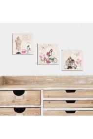 Set tablouri MDF 3 piese Evila Originals 820EVL4303 Multicolor