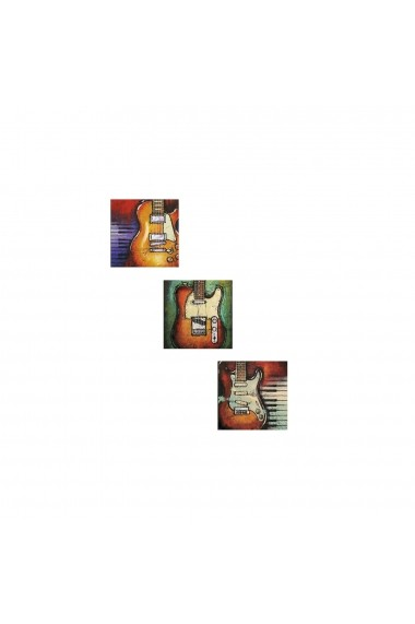 Set tablouri MDF 3 piese Evila Originals 820EVL4312 Multicolor