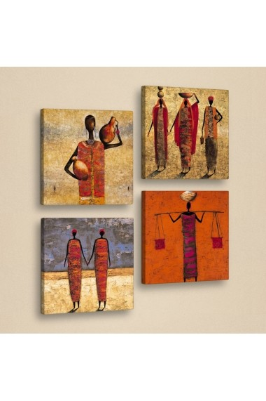 Set 4 tablouri Evila Originals ASR-820EVL4365 Multicolor