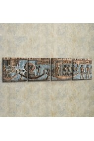 Set ceas decorativ de perete (4 articole) Evila Originals 820EVL4374 Gri