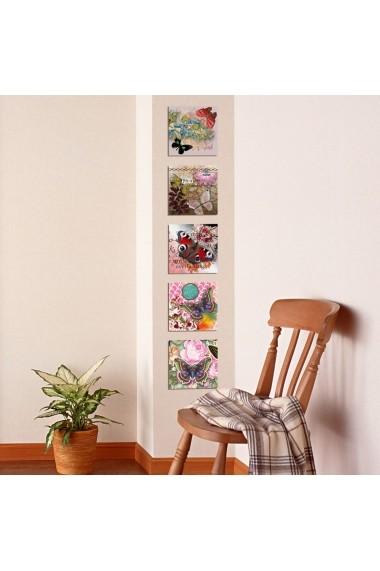 Tablou decorativ (5 bucati) Evila Originals 820EVL4565 multicolor
