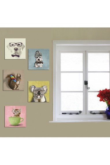 Tablou decorativ (5 bucati) Evila Originals 820EVL4568 multicolor