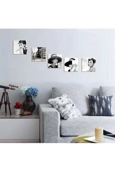 Tablou decorativ (5 bucati) Evila Originals 820EVL4570 negru