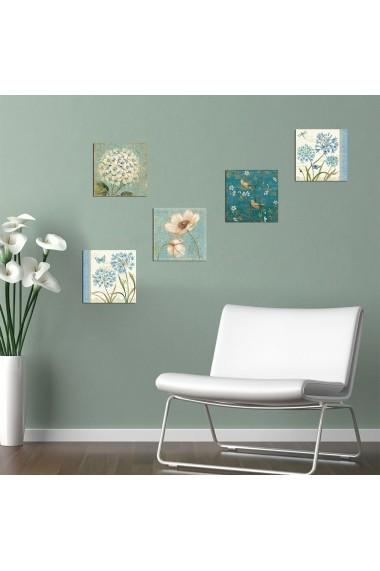 Tablou decorativ (5 bucati) Evila Originals 820EVL4571 multicolor