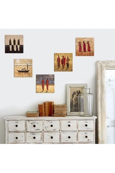 Tablou decorativ (5 bucati) Evila Originals 820EVL4573 multicolor