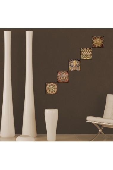 Tablou decorativ (5 bucati) Evila Originals 820EVL4578 multicolor