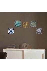 Tablou decorativ (5 bucati) Evila Originals 820EVL4579 multicolor
