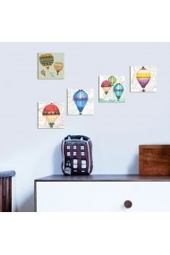 Tablou decorativ (5 bucati) Evila Originals 820EVL4598 multicolor