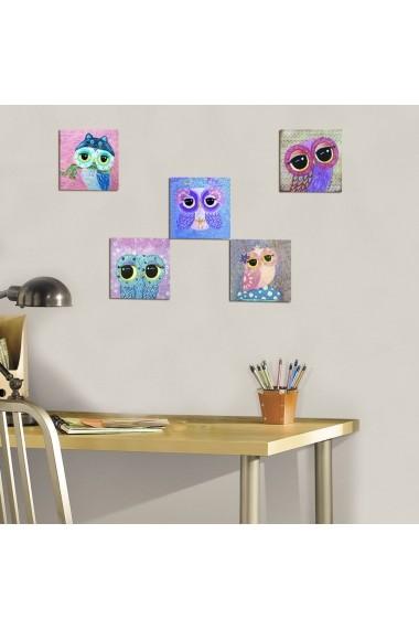 Tablou decorativ (5 bucati) Evila Originals 820EVL4601 multicolor