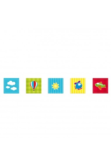 Tablou decorativ (5 bucati) Evila Originals 820EVL4602 multicolor