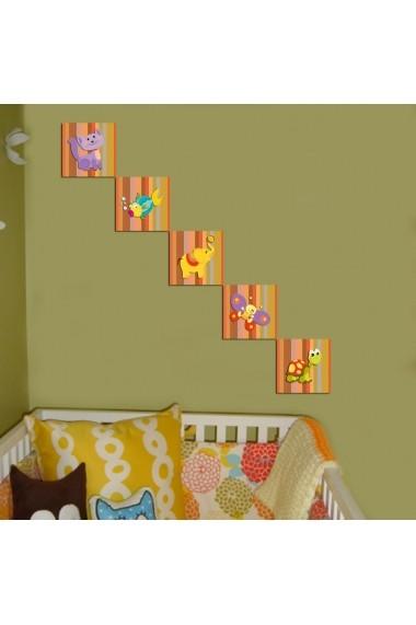 Tablou decorativ (5 bucati) Evila Originals 820EVL4603 multicolor