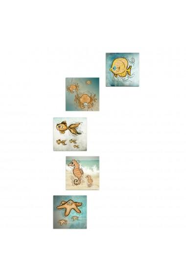 Tablou decorativ (5 bucati) Evila Originals 820EVL4606 multicolor