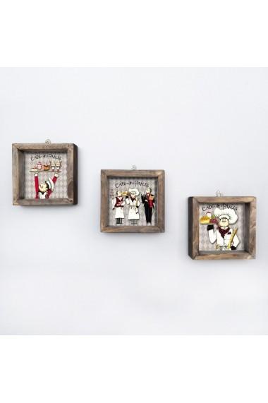 Tablou decorativ (3 bucati) Evila Originals 836EVL4631 multicolor