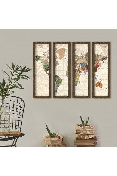Tablou decorativ (4 bucati) Evila Originals 836EVL4327 multicolor