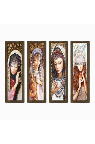 Tablou decorativ (4 bucati) Evila Originals 836EVL4328 multicolor