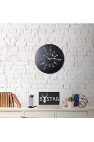 Ceas decorativ de perete Bystag ASR-805BSG1109 Negru