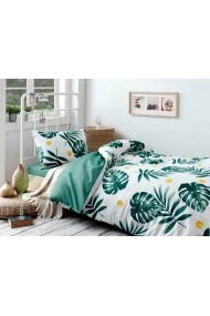 Set lenjerie de pat single EnLora Home 162ELR9367 Verde