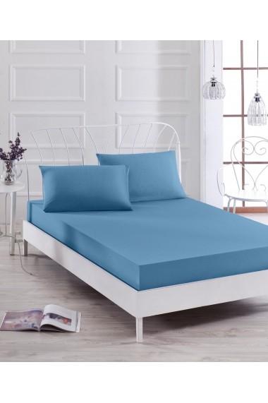 Set lenjerie de pat dublu EnLora Home 162ELR0639 Albastru