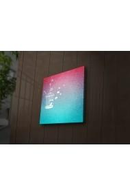 Tablou din panza, cu lumina LED Ledda ASR-254LED1266 Multicolor