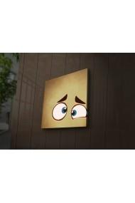 Tablou din panza, cu lumina LED Ledda ASR-254LED1277 Multicolor