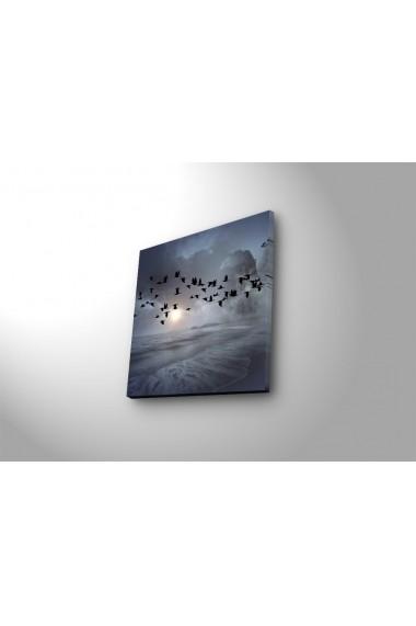 Tablou din panza, cu lumina LED Ledda ASR-254LED1278 Multicolor