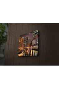Tablou din panza, cu lumina LED Ledda ASR-254LED1286 Multicolor