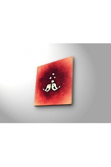 Tablou din panza, cu lumina LED Ledda ASR-254LED4203 Multicolor