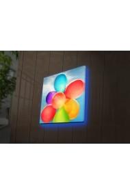 Tablou din panza, cu lumina LED Ledda ASR-254LED4211 Multicolor