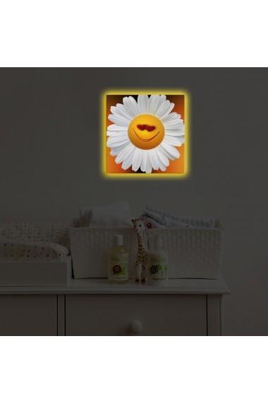 Tablou din panza, cu lumina LED Ledda ASR-254LED4217 Multicolor