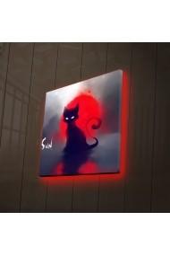 Tablou din panza, cu lumina LED Ledda ASR-254LED4222 Multicolor