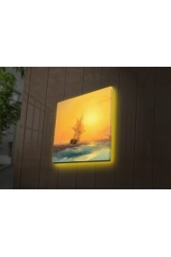 Tablou din panza, cu lumina LED Ledda ASR-254LED4223 Multicolor