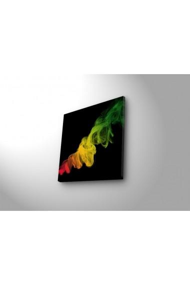 Tablou din panza, cu lumina LED Ledda ASR-254LED4225 Multicolor