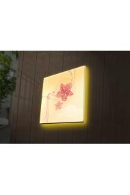 Tablou din panza, cu lumina LED Ledda ASR-254LED4227 Multicolor