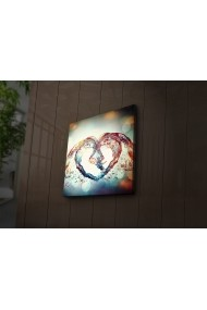Tablou din panza, cu lumina LED Ledda ASR-254LED3215 Multicolor