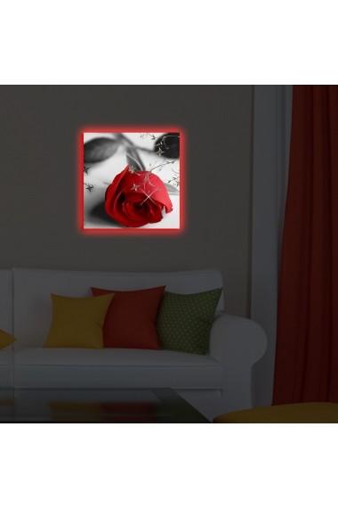 Tablou din panza, cu lumina LED Ledda ASR-254LED4233 Multicolor