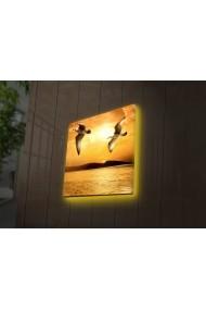 Tablou din panza, cu lumina LED Ledda ASR-254LED4241 Multicolor