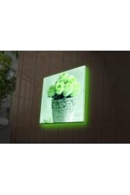 Tablou din panza, cu lumina LED Ledda ASR-254LED4244 Multicolor