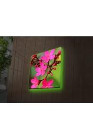 Tablou din panza, cu lumina LED Ledda ASR-254LED4247 Multicolor