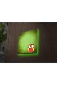 Tablou din panza, cu lumina LED Ledda ASR-254LED4250 Multicolor